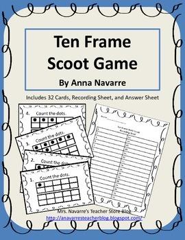 Ten Frame Scoot Game