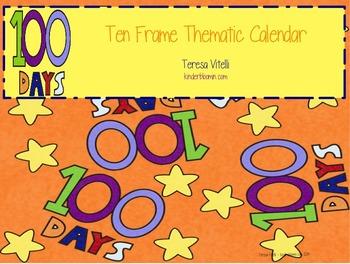 Ten Frame Thematic Calendar