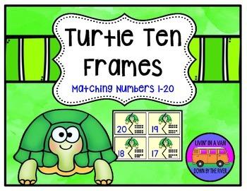 TEN FRAMES MATCHING PUZZLES: 1-20