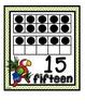 Number Sense Tens Frame Wall Cards & Printables~Jungle Ani