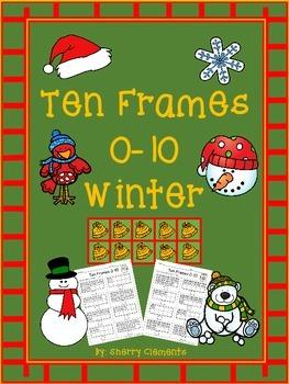 Ten Frames 0-10 Winter