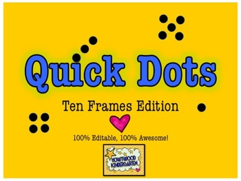 Ten Frames: 100% Editable, 100% AWESOME Powerpoint!  Quick