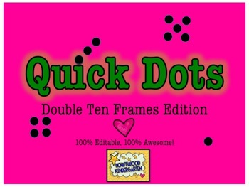 Double Ten Frames: 100% Editable, 100% AWESOME PPT!  Quick