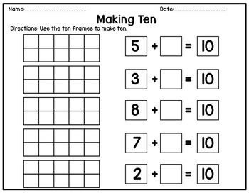 Ten Frame Counting and Addition