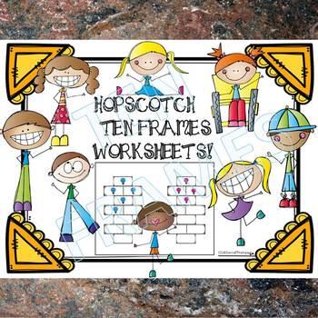 Ten Frames: Hopscotch Worksheets (Dab or Color)