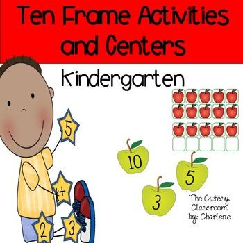Ten Frames Activities and Centers CCSS K.CC.B.4