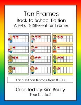 Ten Frames- Back to School Edition