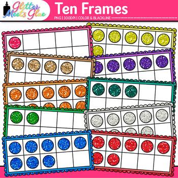 Ten Frames Clip Art {Math Tools for Place Value, Number Se