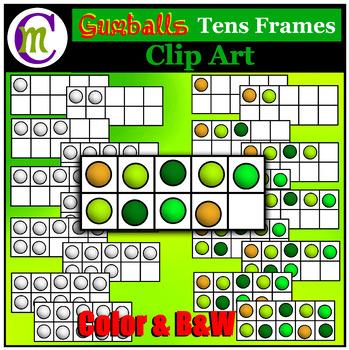 Ten Frames Clip Art Gumballs
