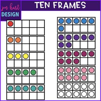 Ten Frames Clip Art  {BOLD}