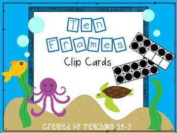 Ten Frames Clip Cards