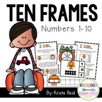 Ten Frames - Fall - Halloween