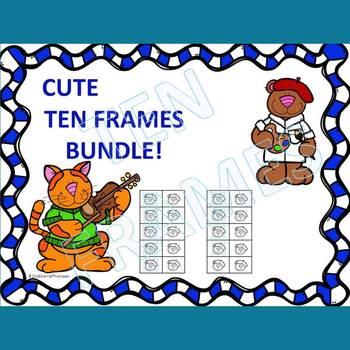 Ten Frames: Worksheets (Dab or Color)