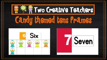 Ten Frames Pack Candy Theme
