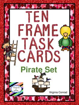 Ten Frames Task Cards:  Pirate Theme