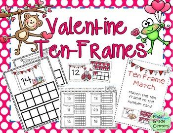 Ten Frames for Valentine's {K.NBT.1}