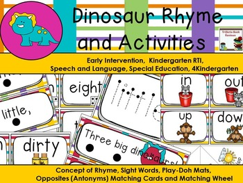 Ten Little Dinosaurs ~ Antonyms, Rhyme and Early Literacy