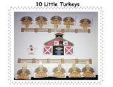 Ten Little Turkeys Activities and Song