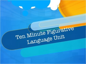 Ten Minute Figurative Language: Daily Lessons and Quizzes-