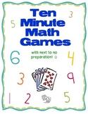 Ten Minute Math Games