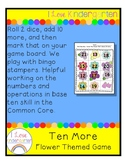 Ten More!  Flower Themed Game