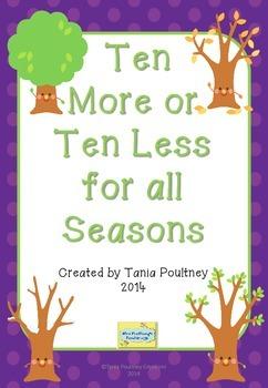 Ten More Ten Less Game for all Seasons