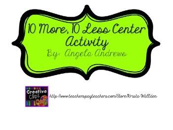 Ten More Ten Less Place Value