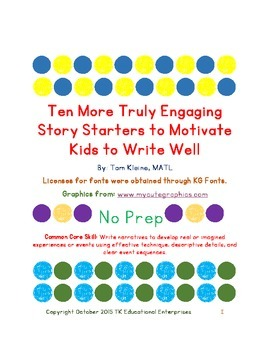 Ten More Truly Engaging Story Starters to Motivate Kids to