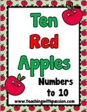 Ten Red Apples Math & Literacy Activity Pack