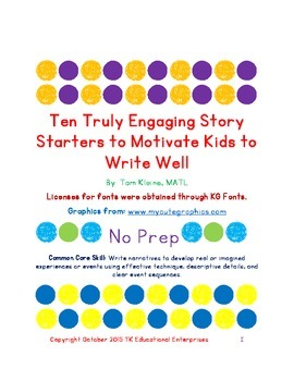 Original Ten Truly Engaging Story Starters to Motivate Kid