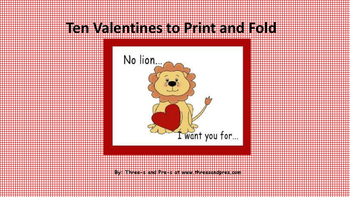 Ten Valentines to Print and Fold