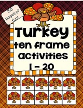 Ten frame with turkeys - 155 pages of fun