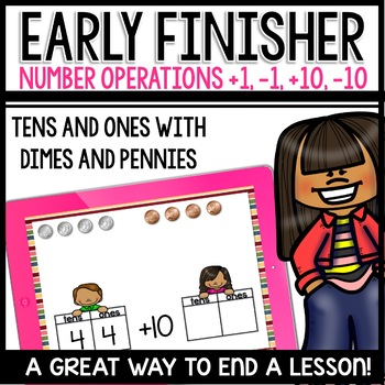 Ten more, ten less, one more, one less (Early Finisher PPT)