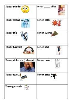 Tener phrases