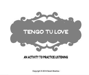 Tengo Tu Love-Song activity