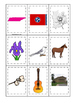 Tennessee themed Memory Matching and Word Matching prescho