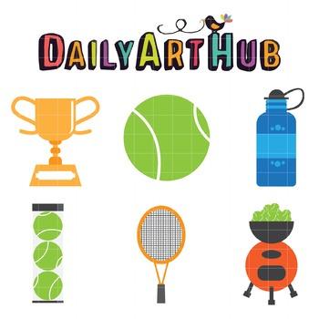Tennis Clip Art - Great for Art Class Projects!