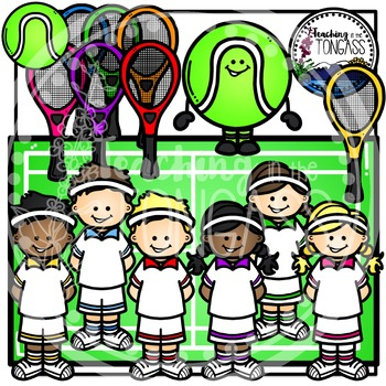 Tennis Clipart Bundle