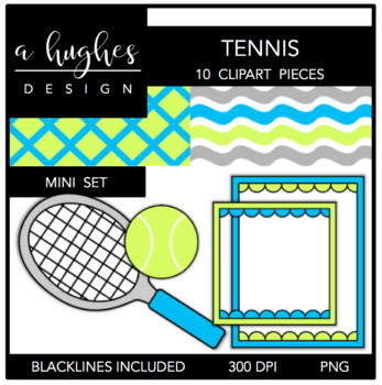 Tennis Mini Set {Graphics for Commercial Use}