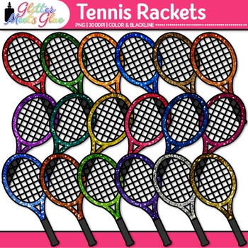 Tennis Racket Clip Art {Sports Equipment for Physical Educ