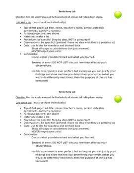 Tennis Ramp Lab!