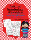 Tens Facts and Related Subtraction Facts Flashcards and Handouts