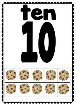 Cupcake Theme! Tens Frame Classroom Numbers! 0-20