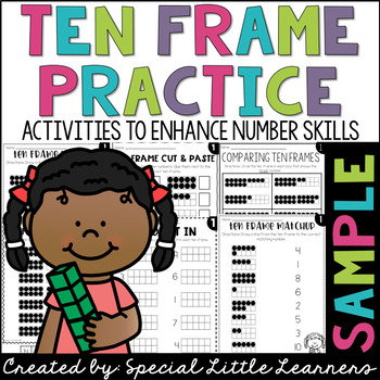 Tens Frame Cut and Paste Freebie