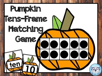 Tens Frame Matching Game with Pumpkins