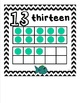 Ten Frame Math Wall Cards 0-20 {Fish Theme} Includes Numbe