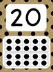 Tens Frame Number Posters 1-20 (Burlap Black Dots)