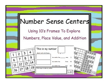 Tens Frame, Number Identification and Addition, Work Mats