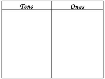 Tens Frame Place Value Mats