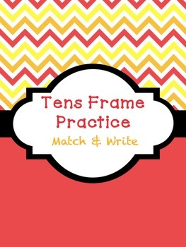 Tens Frame Practice - Match and Write FREEBIE